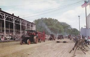 Cavalcade of engines passing in front of the amphitheatrea, Midwest Old Settl...