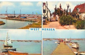WEST MERSEA ESSEX UK MUTI PHOTO POSTCARD  SAILBOATS & YACHTING