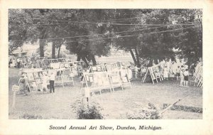 Dundee Michigan view of Second Annual Art Show antique pc ZE686211