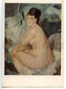154591 NUDE Woman by Auguste RENOIR old Russian PC