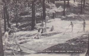Michigan Shuffle Board At Camp Talahi Detroit Y W C A Artvue
