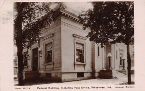 Vincennes Indiana~RPPC Federal Building (US Post Office) 1912 Postcard