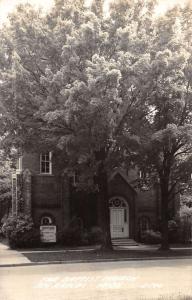 Big Rapids Michigan Baptist Church Real Photo Antique Postcard K10012