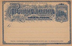 Republica NICARAGUA , Postal Card 1890s-1907 ; #3