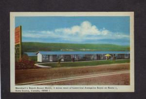 NS Marshall's Ranch House Motel Annapolis Royal Nova Scotia Canada Carte Postale