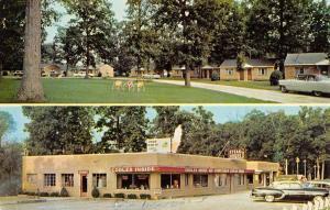 Christmas Illinois Shady Rest Motel Multiview Vintage Postcard K59183