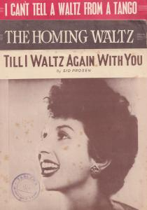 Alma Cogan Homing Waltz I Cant Tell A From A Tango 3x 1950s Sheet Music s