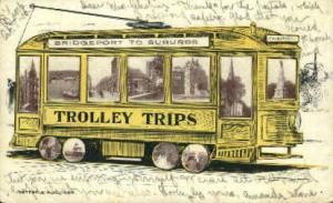 Bridgeport to Suburbs Trolley Trips Bridgeport MA 1906