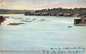 Philadelphia, Pa. Boat Houses on Schuylkill and Fairmount Dam 1909