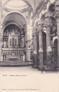 LECCE ,  Italy , 1900-10s ; Interno Chiesa S. Croce