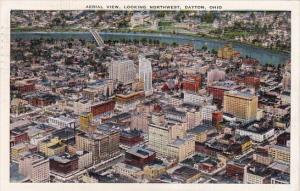 Ohio Dayton Aerial View Looking Northwest 1944