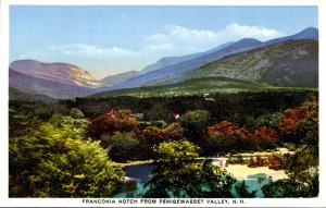 New Hampshire Franconia Notch From Pemigewasset Valley