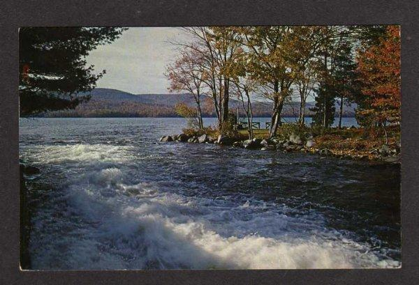 ME Great & Long Pond  BELGRADE LAKES MAINE Postcard