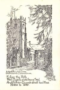 Postcard Art Sketch S. Candida And Holy Cross WHITECHURCH Canonicorum, DORSET #W