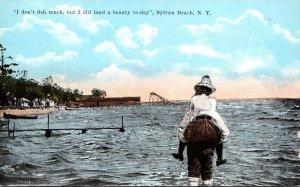 New York Sylvan Beach Man Carrying Woman On Beach I Don't Fish Much But ...