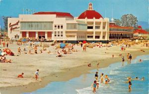 SANTA CRUZ CA~BEACH & THE CASINO POSTCARD 1960 PSMK