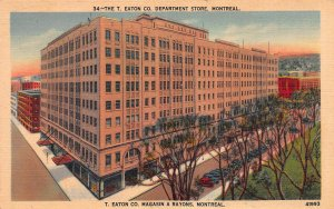 T. Eaton's Dept. Store, Montreal, Canada, Early Postcard, unused
