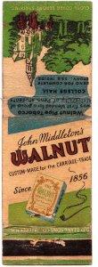 John Middleton's Walnut pipe tobacco matchbook cover