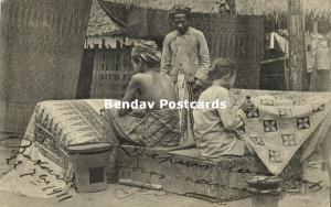 indonesia, JAVA BATAVIA, Native Batik Craftswomen (1911) Stamp