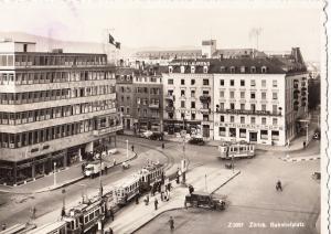 Switzerland, Suisse, Zurich, Bahnhofplatz, 1938 used Real Photo Postcard