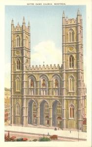 Montreal QC, Quebec, Canada - Notre Dame Church - WB