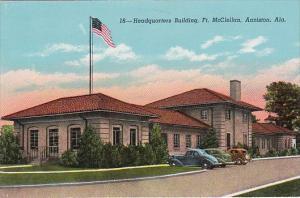 Alabama Anniston Headquarters Building Fort McClellan Curteich