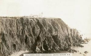 Canada - New Brunswick, Grand Manan. Southern Head Lighthouse - RPPC