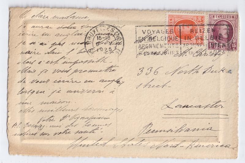 1925 Belgium Bruges le Beguinage Convent Etching Postcard Signed D.D.