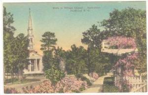 Walk To Village Chapel, Springtime, Pinehurst, North Carolina, 1920-30s