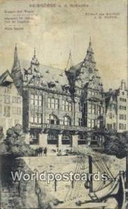 Reisborse a d Schlachte Germany, Deutschland Postcard Waigen und Wagen Reisbo...