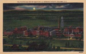South Carolina Columbia Panoramic View By Night Of Us Veterans Facility