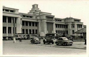 indonesia, JAVA JAKARTA, Dutch Trading Company, Cars Tram (1950s) RPPC Postcard