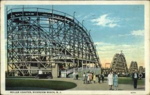 Riverview Beach NJ Roller Coaster Amusement Park c1920 Postcard