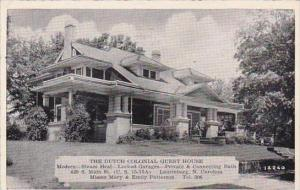 North Carolina Laurinburg The Dutch Colonial Guest House 1941