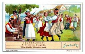 The Czardas, Hungary, Folk Dances, Liebig Belgian Trade Card *VT32O
