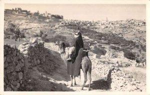 Jerusalem Palestine Bethlehem Scenic View Real Photo Postcard AA14167