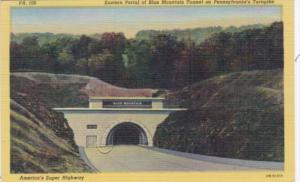 Pennsylvania Turnpike Eastern Portal Of Blue Mountain Tunnel 1948 Curteich
