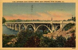 SC - Columbia. Jefferson Davis Hwy. Bridge over Congaree River