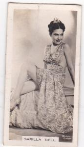 Cigarette Cards Carreras FILM & STAGE BEAUTIES No 12 Sarilla Bell