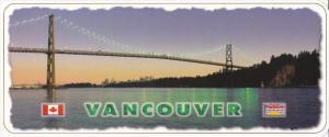 Panorama view , VANCOUVER , B.C. , Canada , 60-80s ; Lion Gate Bridge