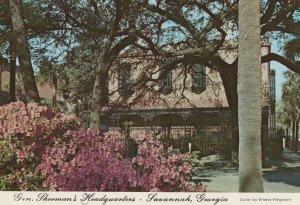 Georgia Savannah General Shermans Headquarters USA Postcard