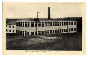 Early 1900s Wolff Worsted Mills, Ashaway, RI Postcard *4W