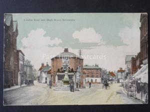 Kent SEVENOAKS London Road & High Street POLICEMAN Water Fountain & TAVERN c1905