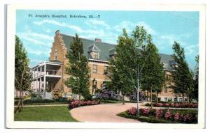 Early 1900s St. Joseph's Hospital, Belvidere, IL Postcard