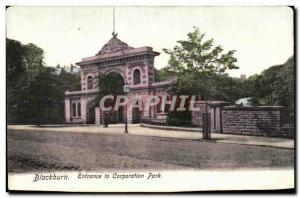 Postcard Former Blackburn Entrance to park Corporation