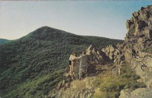 Couple at Top of Stonyman Mountain, SHENANDOAH NATIONAL PARK, Virginia, 40-60's