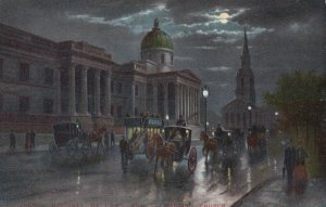 LONDON , England , 00-10s National Gallery at night , TUCK 768