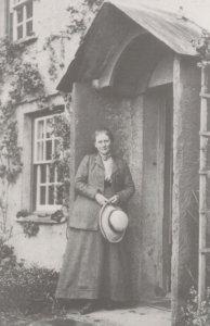 Beatrix Potter Author at Lake District Home 1913 Postcard