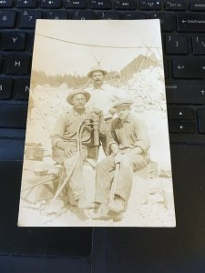 Antique Photo Postcard RPPC-  3 Men with gadget? Sweden