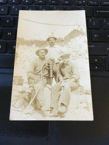 Antique Photo Postcard RPPC-  3 Men with gadget? Sweden